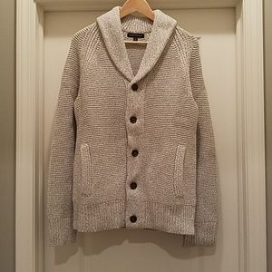 Men's BR med grey knit cardigan